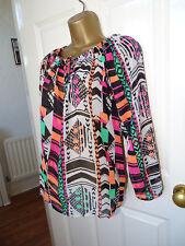 Stunning Colourful Next Patterned Blouse UK 6
