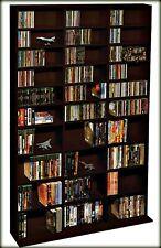 Multimedia Storage Shelf Cabinet DVD Movie Rack Organizer Media Book Stand BluRa