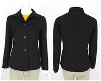 Womens KITON Napoli Wool Angora Cashmere Italy Blazer Jacket Black IT42 UK10