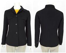 Womens KITON Napoli Wool Angora Cashmere Italy Blazer Jacket Black IT42 UK10