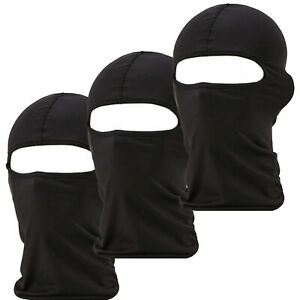 3 Pack Men Balaclava Black Face Mask Lightweight Motorcycle Warmer Ski
