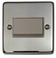 G&H CC69W  Polished Chrome 1 Gang Triple Pole 10A Fan Isolator Switch
