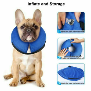 Dog Cat Inflatable Collar Soft E-Collar Pet Puppy Medical Protection Head Cone