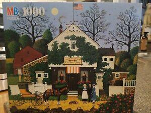 """Milton Bradley Puzzle Charles Wysocki""""s Americana New Birdie's Perch Coffee Shop"""