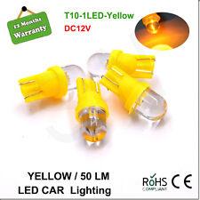 4X T10 W5W 194 168 158 1 SMD LED Car Light Side Dashboard Wedge Lamp Bulb Yellow