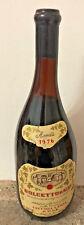 Bottiglia di vino da collezione vetro Dolcetto d'Alba cantina Vecchia Langa 1976