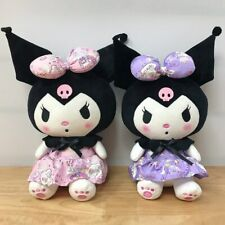 More details for sanrio kuromi my melody plush doll black pink purple dress kawaii new with tags