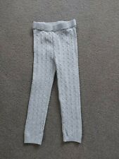 Fab Girls Grey Cable Knit Leggings, age 3- 4 yrs