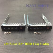 "2x New Dell PowerEdge Gen 14 DXD9H 2.5"" SAS/SATA HDD Hard Disk Drive Tray Caddy"