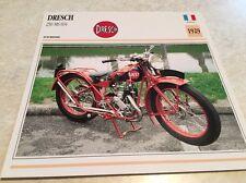 Carte moto Dresch 250 MS 604 MS604 1929 collection Atlas Motorcycle France