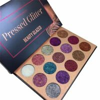 USA Diamond Glitter Rainbow Eye Shadows Make Up Cosmetic Pressed Palette Beauty