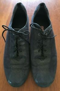 MUNRO AMERICAN Navy Shimmer Suede Leather Sydney Lace Up Comfort Sneaker Shoes 8