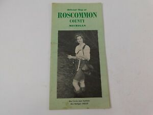 Vintage 1963 Official Roscommon County Michigan Road Map