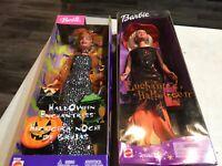 2 Mattel HALLOWEEN Barbie Dolls New