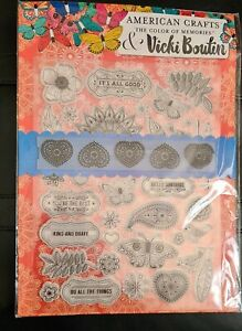 The Color Of Memories & Vicki Boutin - Clear Stamps & Embossing Folder