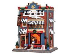 """Lemax Weihnachtsdorf Haus """"   Französisches Schokoladengeschäft  """" beleuchtet"""