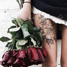 Monochrome Bird Bloom Daisy Peony Rose Mandala Flowers Sketches Temporary Tattoo
