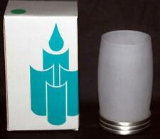 """2-Pc Partylite PARAGON Frosted White Tealight 4-3/4"""" Holder NIB Retired"""