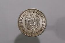GERMANY THIRD REICH 5 REICHSMARK 1936 A SILVER B22 #8175