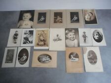 LOT DE 17 PHOTOS ANCIENNES D'ENFANTS N° 20