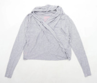 Superdry Womens Size M Cotton Blend Grey Top (Regular)