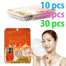 [Malie] COENZYME Q10 Facial Mask Sheet Essence 10-30pcs Korean Beauty Cosmetics