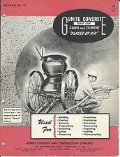 Equipment Brochure - Gunite - Concrete Cement Gun Construction - c1952 (E3295)