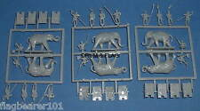 HAT 8023 WAR ELEPHANTS 1/72 SCALE UNPAINTED PLASTIC. Generic Box.