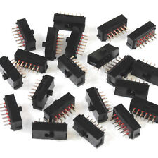 12 pc Lot -  4PDT ULTRA MINI SLIDE SWITCH - ALCO / T E CONNECTIVITY - P/N MMS-42