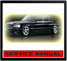 MERCEDES BENZ W126 SERVICE REPAIR MANUAL IN DVD