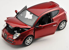 BLITZ VERSAND Alfa Romeo Mito bordeaux met. Welly Modell Auto 1:24 NEU & OVP