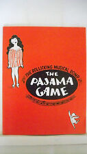 THE PAJAMA GAME Souvenir Program JOHN RAITT / LIBI STAIGER / ERIN MARTIN 1960