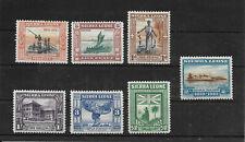 SIERRA LEONE 1933, SG# 168/177