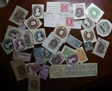 Fiscal / revenue stamps GB SMALL COLLECTION