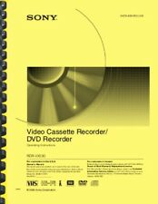 Sony RDR-VX530 DVD & VCR Recorder OWNER'S USER MANUAL