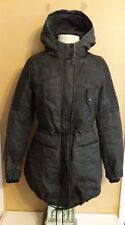 Harley Davidson women's leather trimmed parka jacket winter coat med 97420-17VW
