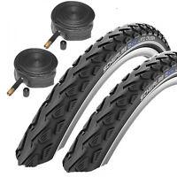 """Schwalbe Land Cruiser 26"""" x 1.75 Mountain Bike Tyres with Schrader Tubes 1 Pair"""
