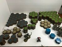 Heroscape Hex Lot Terrain Tiles Figures Dices Cards Markers - HUGE Variety Lot