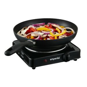 Emperial Single Electric Hot Plate Hob Table Top Cooker 1000W Black