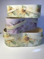 BOB's BOXES 3 PC SET of OVAL NESTING GIFT BASKETS- HOMEGROWN by Kimberly Poloson