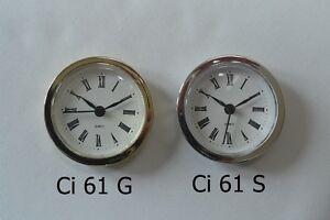 Insert Clock Kit-Craft Clock-61mm - Prokraft PKR Ci61 G/S