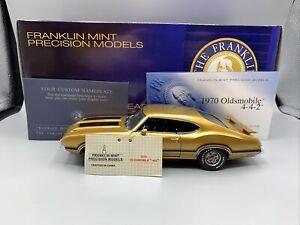 1/24 Franklin Mint 1970 Oldsmobile 442 W-30 Coupe Gold CH Part # B11D999
