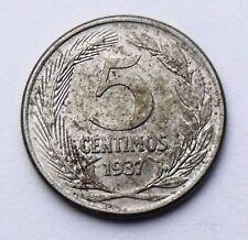 ESPAÑA: 5 CENTIMOS ÉPOCA II-2ª REPUBLICA. AÑO 1937. BC+. IDEAL PARA LIMPIAR.