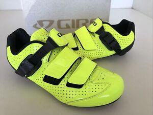 NEW Giro Trans E70 Men's Road Bike Carbon Cycling Shoe EU 39 US 6.5 Yellow/black