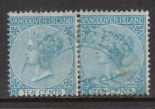British Columbia #6 Used Rare Pair **With Certificate**