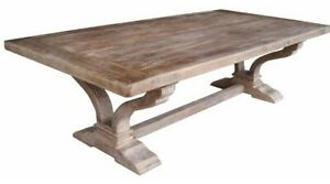 ANAIS FRENCH PROVINCIAL COFFEE TABLE RECYCLED TIMBER HARDWOOD 160CM. RUSTIC