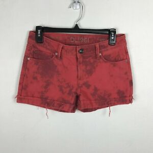 DL 1961 Stella Shorts Size 25 Red Pink Low Rise Denim Womens