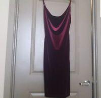 Lulu's Velvet Bodycon Dress Large