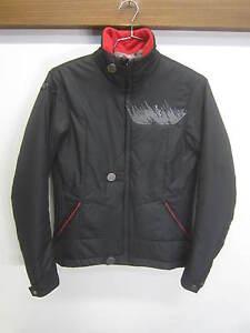 EUC! Pearl iZumi Puffer Jacket Coat black poly-fill puffer sz L