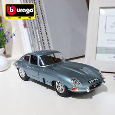 Jaguar E-Type Coupe Vintage Car Bburago 1:18 Scale Diecast Car Model Silver Blue